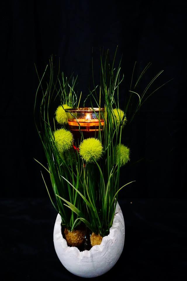 Kerzen dekoration mit der erfurter feuerblume einem wiederverwendbaren schwimmlicht das - Dekoration kerzen ...