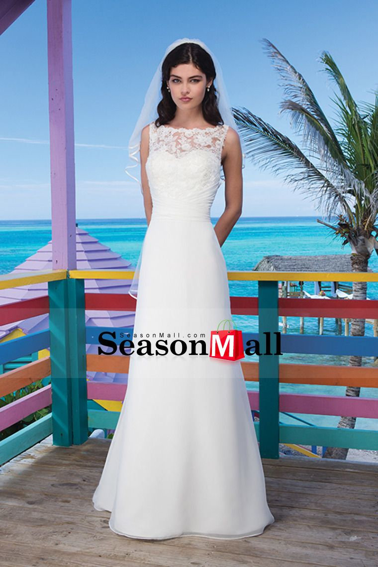 high neck sheathcolumn wedding dress ruffled pick up organza