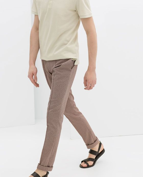 JACQUARD TROUSERS from Zara