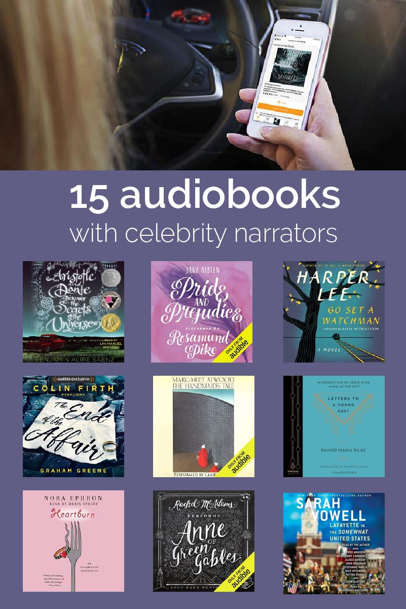 15 Audiobooks Read By Your Favorite Celebrity Narrators Modern Mrs Darcy Audiobooks Narrator Best Audiobooks