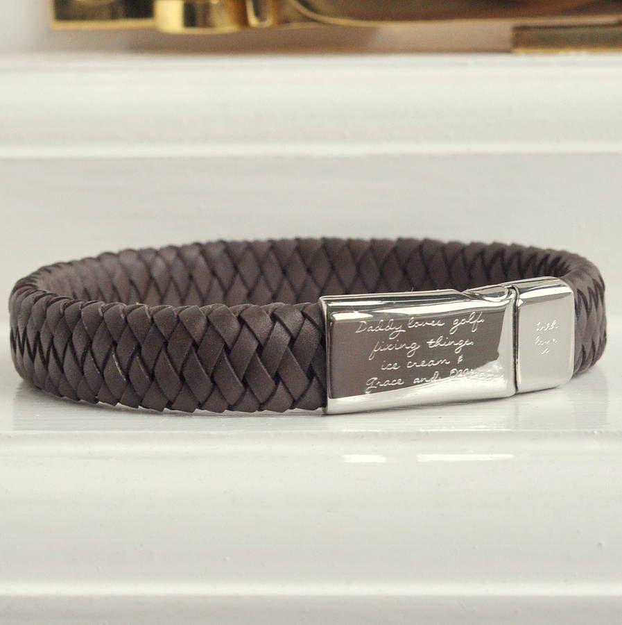 Mens engraved message bracelet bracelets for men