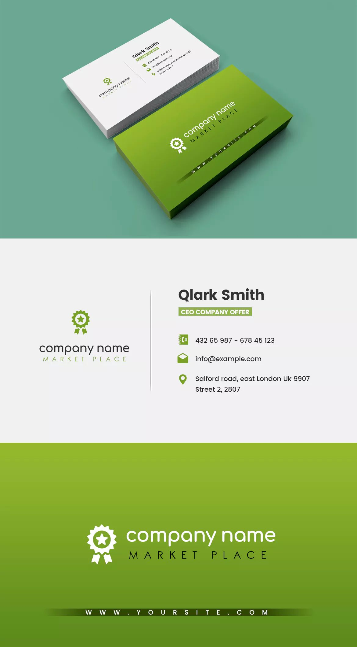 Company Market Business Card Template By Websroad On Envato Elements Business Card Template Psd Business Card Template Business Cards