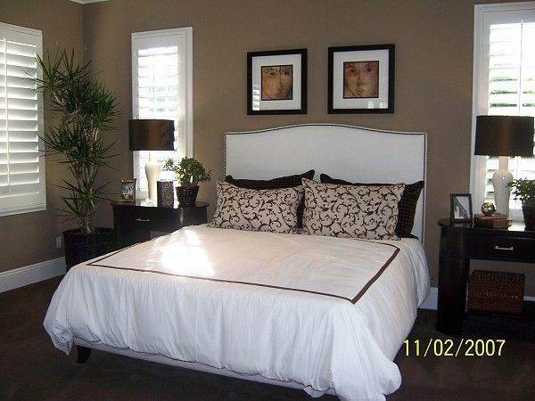Plantation Shutters In A Bedroom