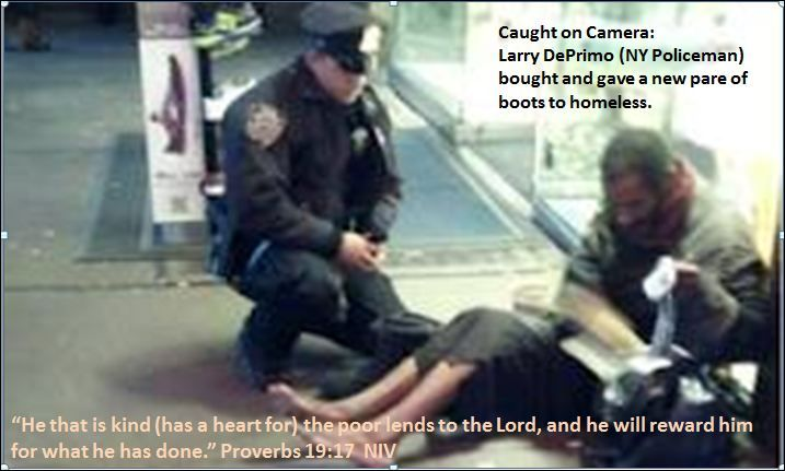 Act of kindness caught on camera.