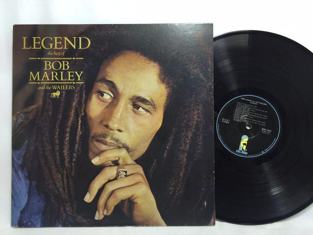 Bob Marley Legend The Best Of Lp Vinyl Record Black Island Label Bob Marley Vinyl Records