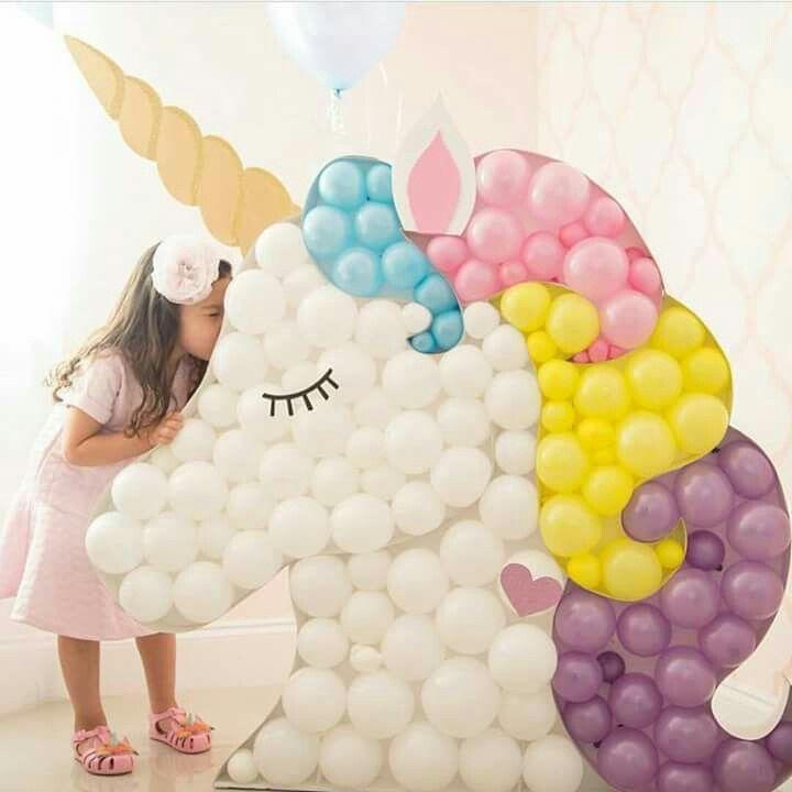 Unicornio con globos base de cart n decoraci n para - Decoracion de photocall ...