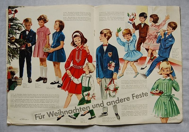 Vintage Schnittmuster - 60er Kinder Schnittmusterheft - ein ...