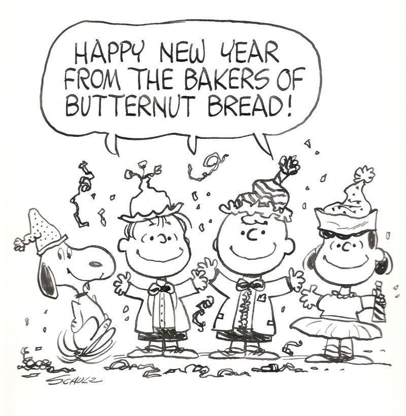 Happy New Year Butternut Bread Snoopy New Year Disney New Years Eve Disney New Year