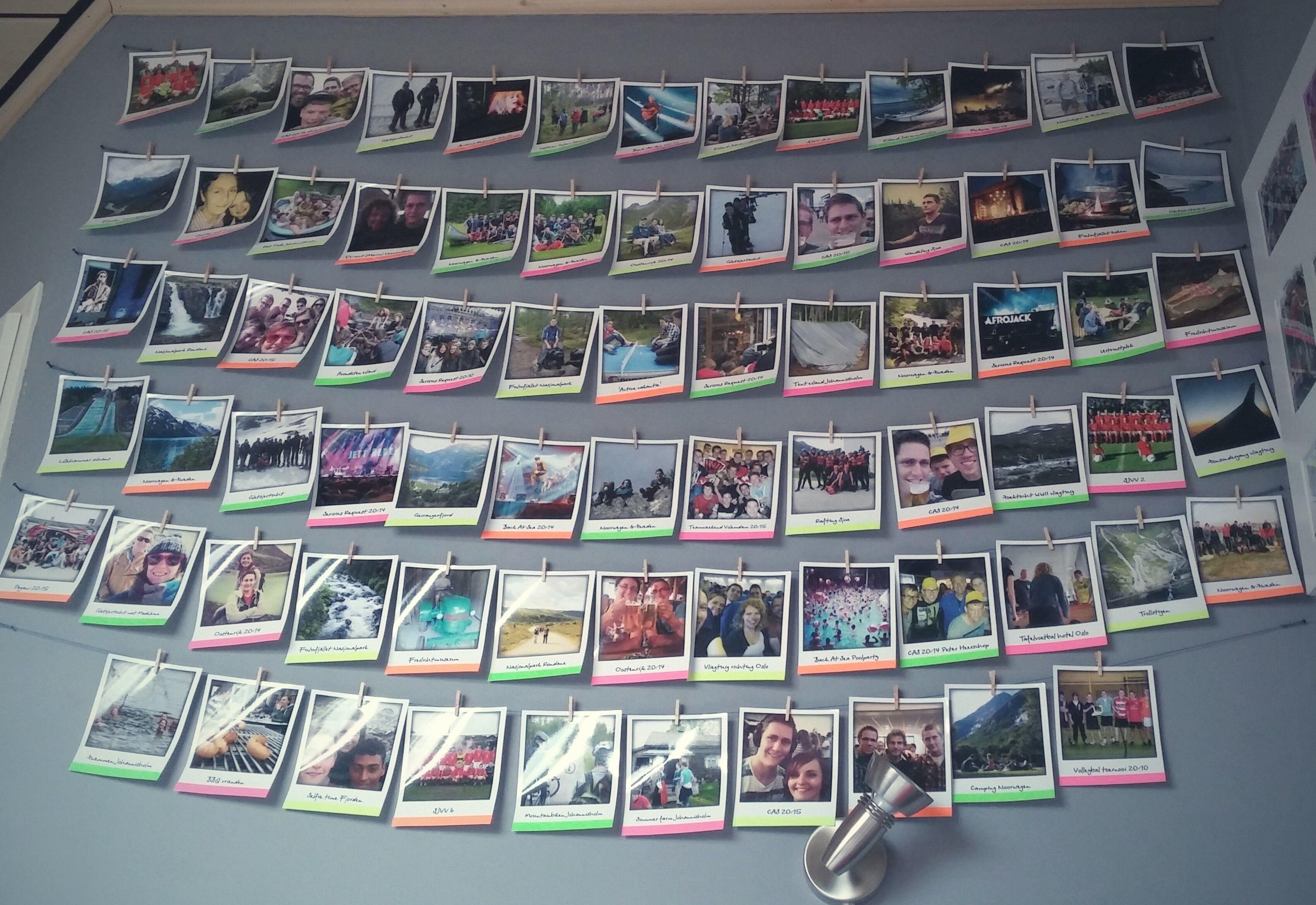 Polaroid photowall