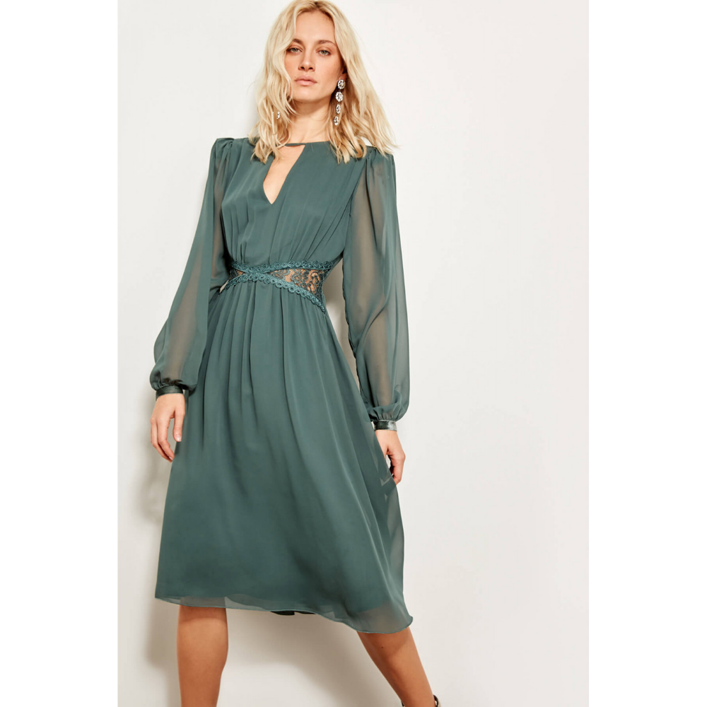Trendyol Mint Waist Revealing Dress Factcool Revealing Dresses Dresses Long Sleeve Dress