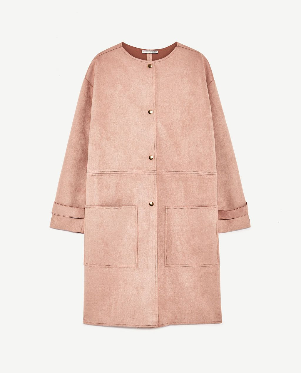Image 8 of FAUX SUEDE COAT from Zara