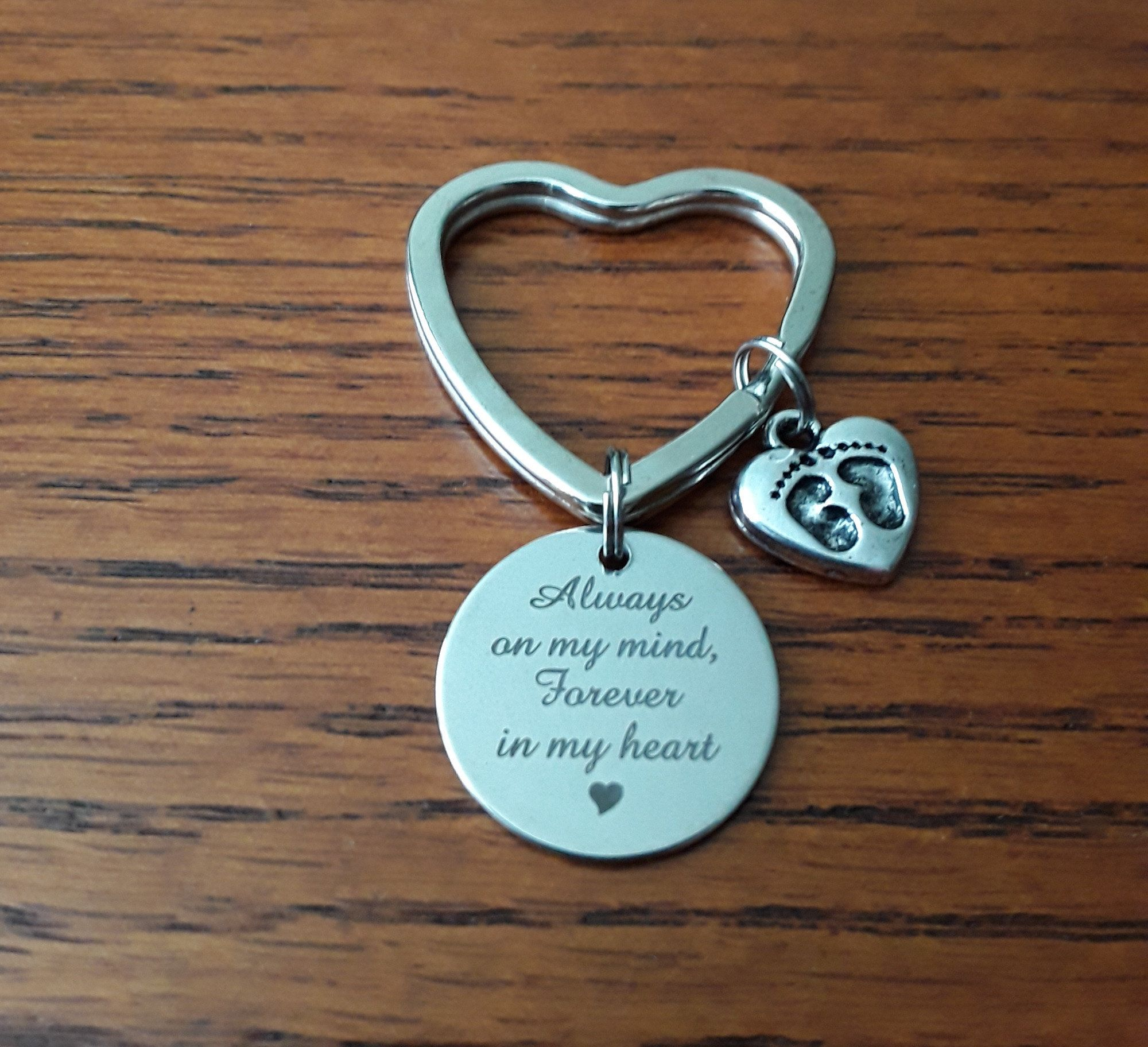 09ea053013f8e Always on My Mind, Forever in My Heart Memorial Key Ring, memorial ...