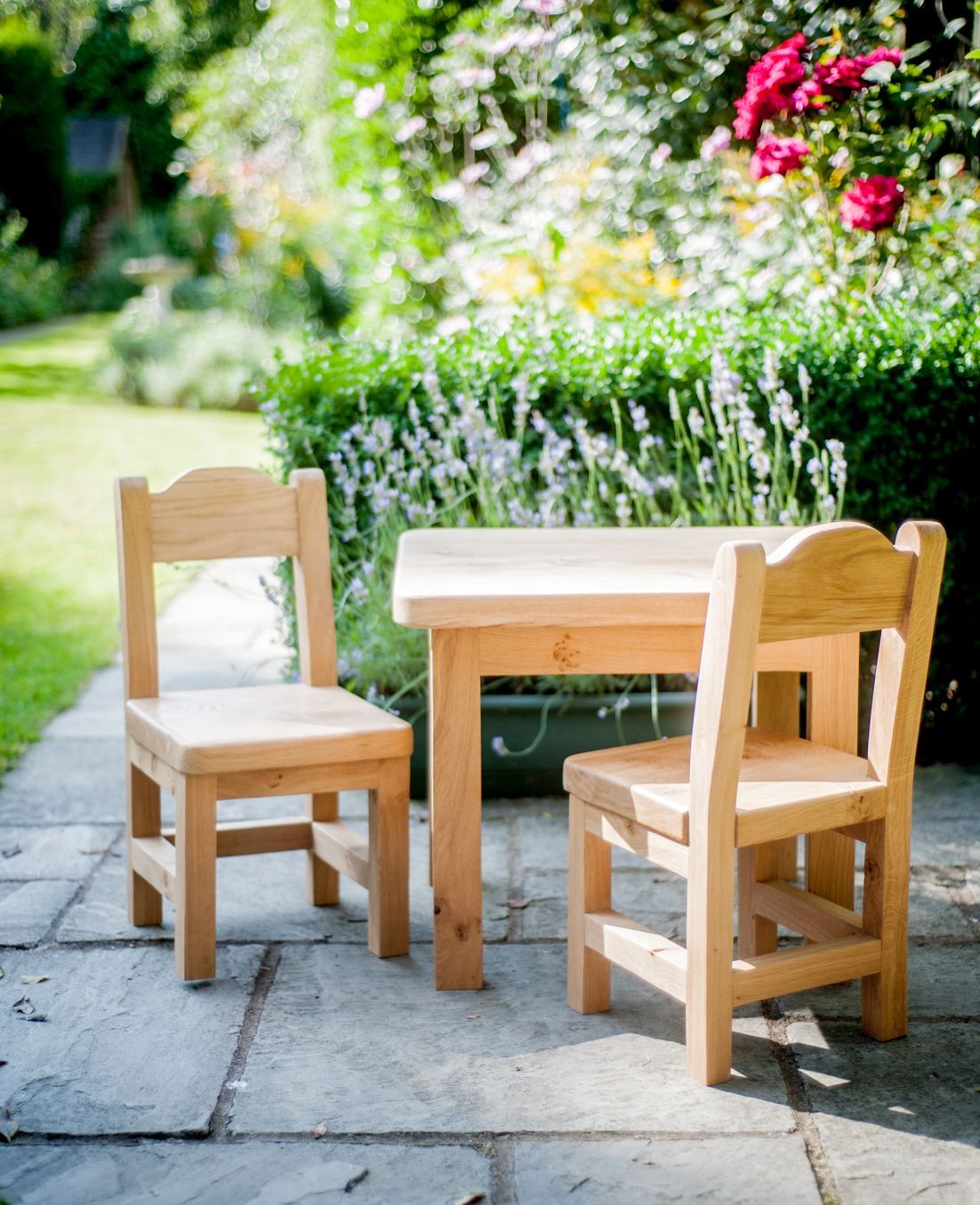 Childrens Oak Table And Chair Set 250 00