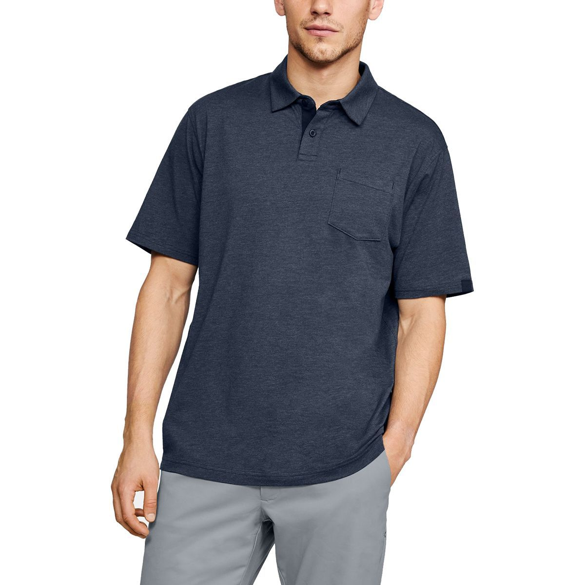 Photo of Under Armour Charged Cotton Scramble Polo Shirt – Men's