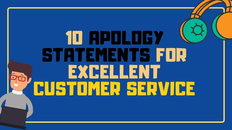 A simple apology statement can sometimes do wonders and