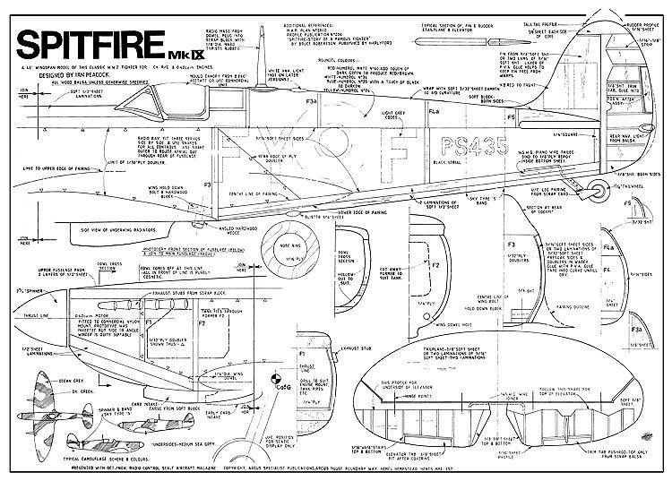 The Spitfire Ix 48in Is One Of The Model Airplane Plans
