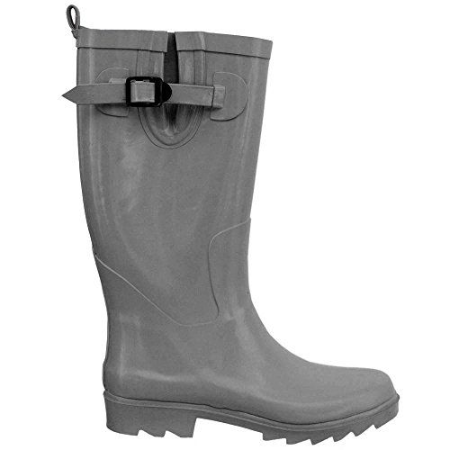 Capelli New York Solid Ladies Tall Rubber Rain Boot Gargoyle Grey 7 * To view further for this item, visit the image link.