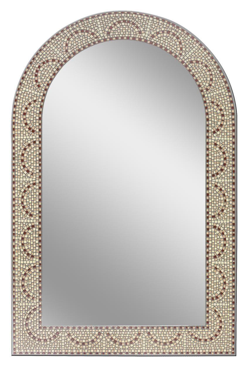 Earthtone Mosaic Arch Bathroom Mirror Bathroom Mirrors