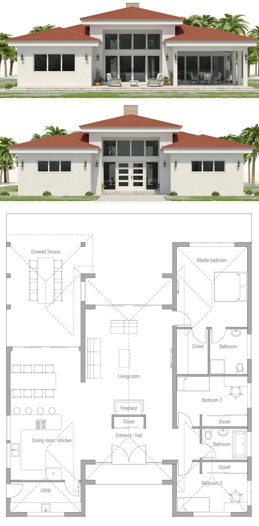 House Plan Ch573 In 2020 Indian House Plans My House Plans Beach House Plans