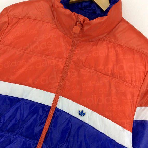 e2113c1e50661 Vintage Adidas Jacket / Adidas Trefoil Multicolor / Long Jacket ...