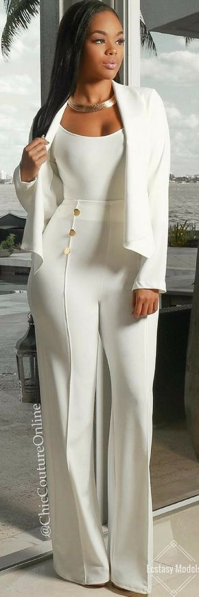All White Glam    Fashion Look by @chiccoutureonline Moda 2018