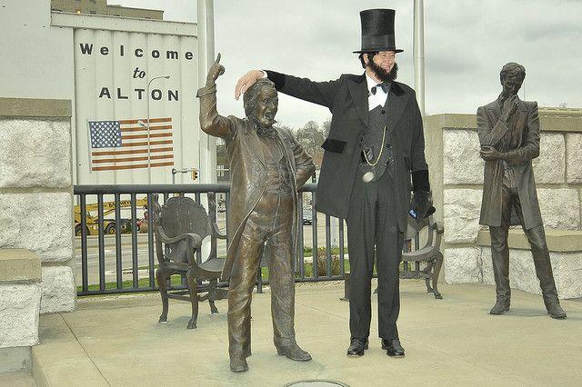 Lincoln Presenters Lincoln Statue Alton Illinois Alton