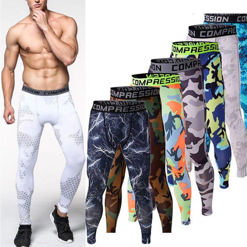 90756ebdd5 Details about Men Adult Tights Sport Pants Compression Performance ...