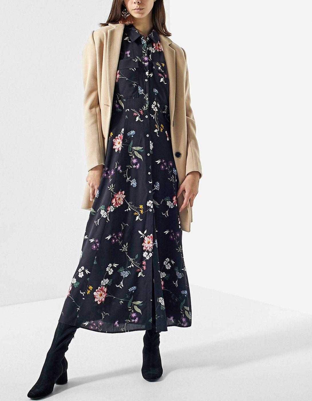 Combinar vestido camisero invierno