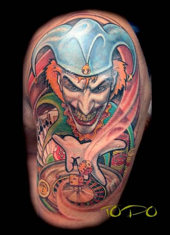 Gambling Tattoos Gambling Joker Tattoo Design Gambling Tattoos