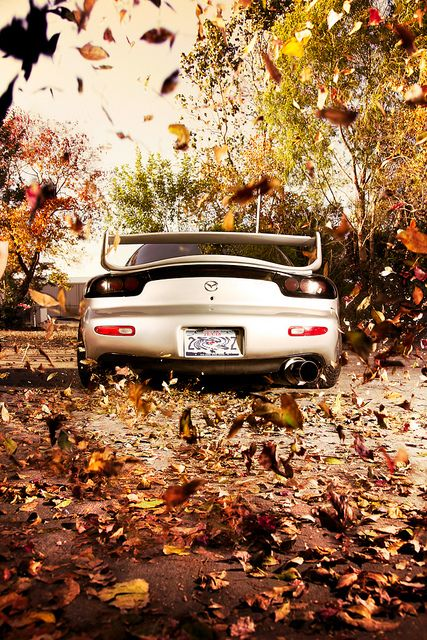 The dream will never die - will always remember the sound down the straight  Great shot of the RX-7    Autumn breeze by karissa_lynne