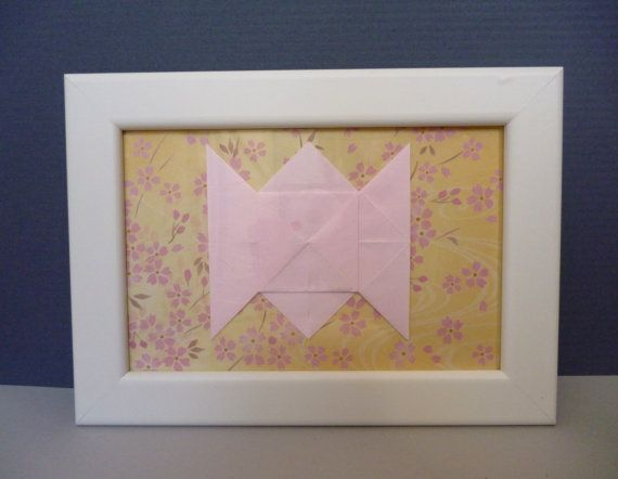 Paper st anniversary present origami framed lover s knot