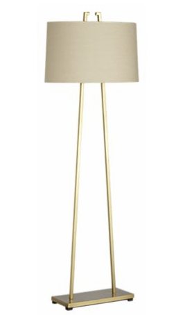 Mid century brass floor lamp from Crate & Barrel