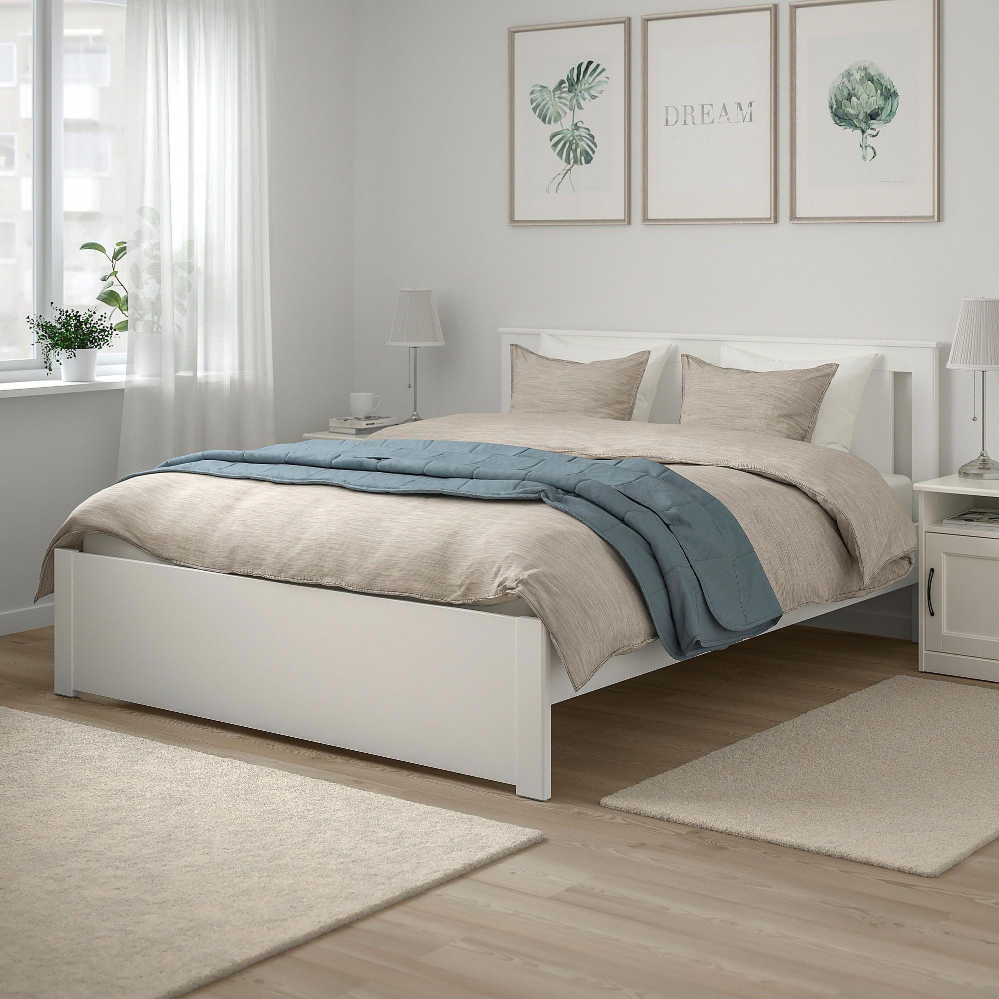 IKEA SONGESAND Bed frame white, Lönset whitebedroom