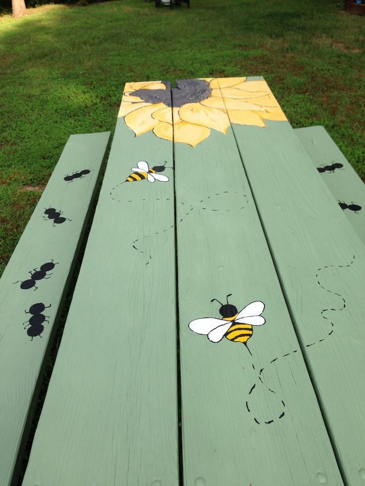 painted picnic table diy oh my word now i want a picnic table and a nice back yard - Garden Furniture Colour Ideas