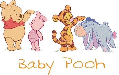 Moving Baby Winnie the Pooh and Friends | Baby Shower winnie pooh ...