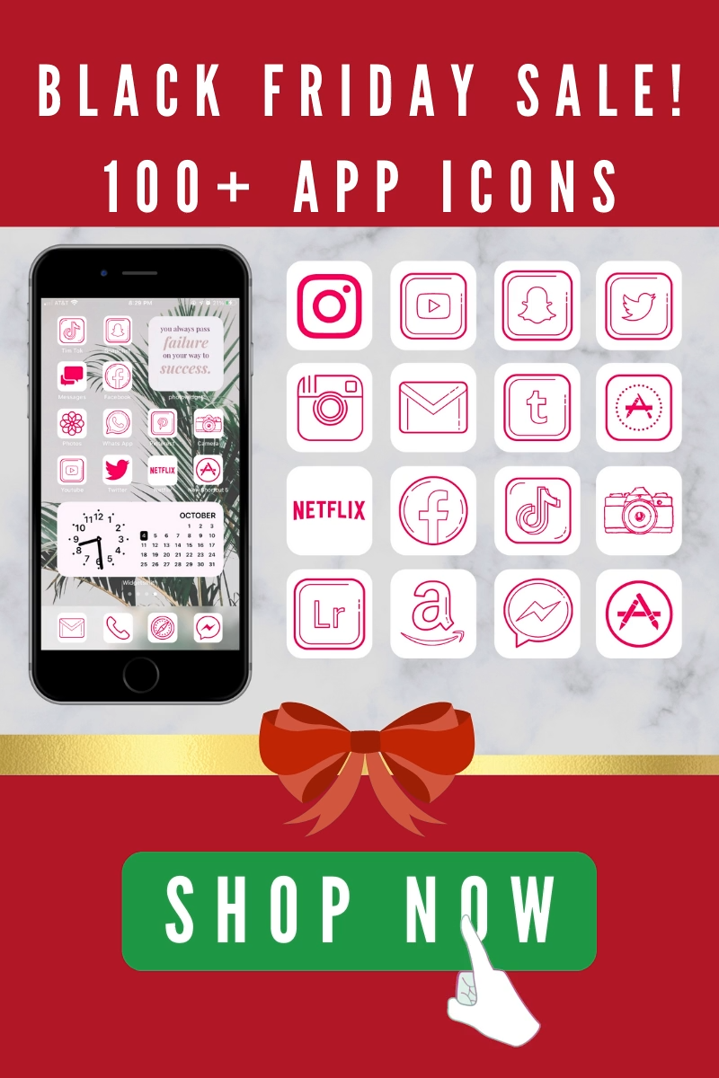 ios 14 home screen ideas for iPhone, App icons  pink