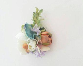 A set of 3 bridal hair pins Bobby Pins Vintage blue by LilySarah