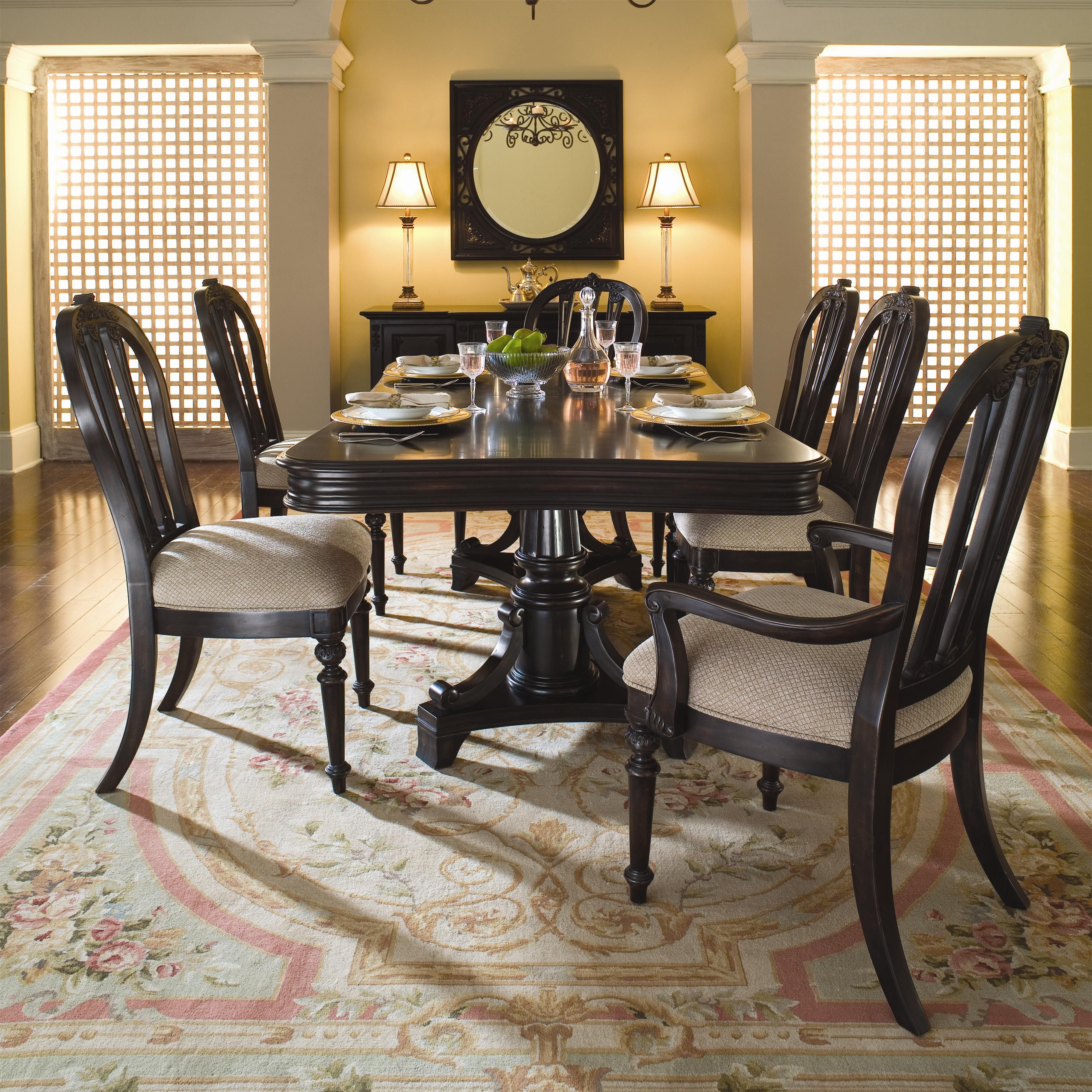 Sturlyn 7 Piece Table Metal Dining Room Round Dining Room Sets Black Dining Room Furniture