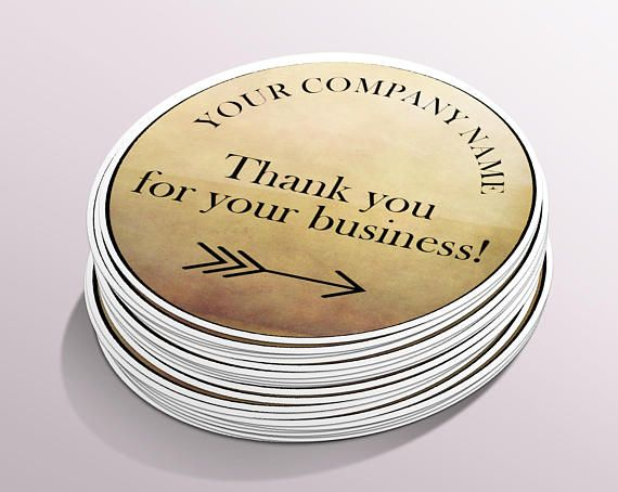 Thank you for your business stickers custom stickers custom