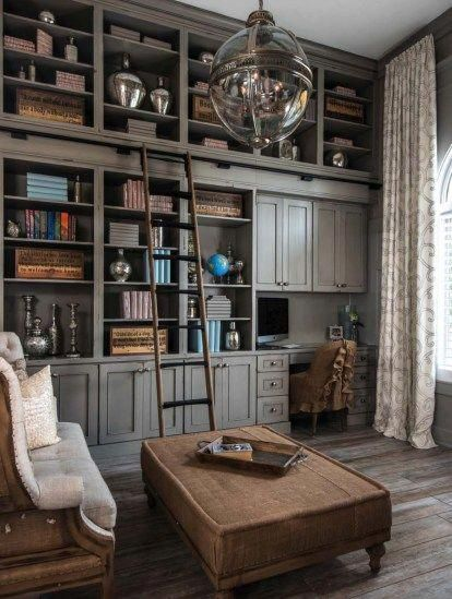 28 Dreamy home offices with libraries for creative inspiration #livingroomideas