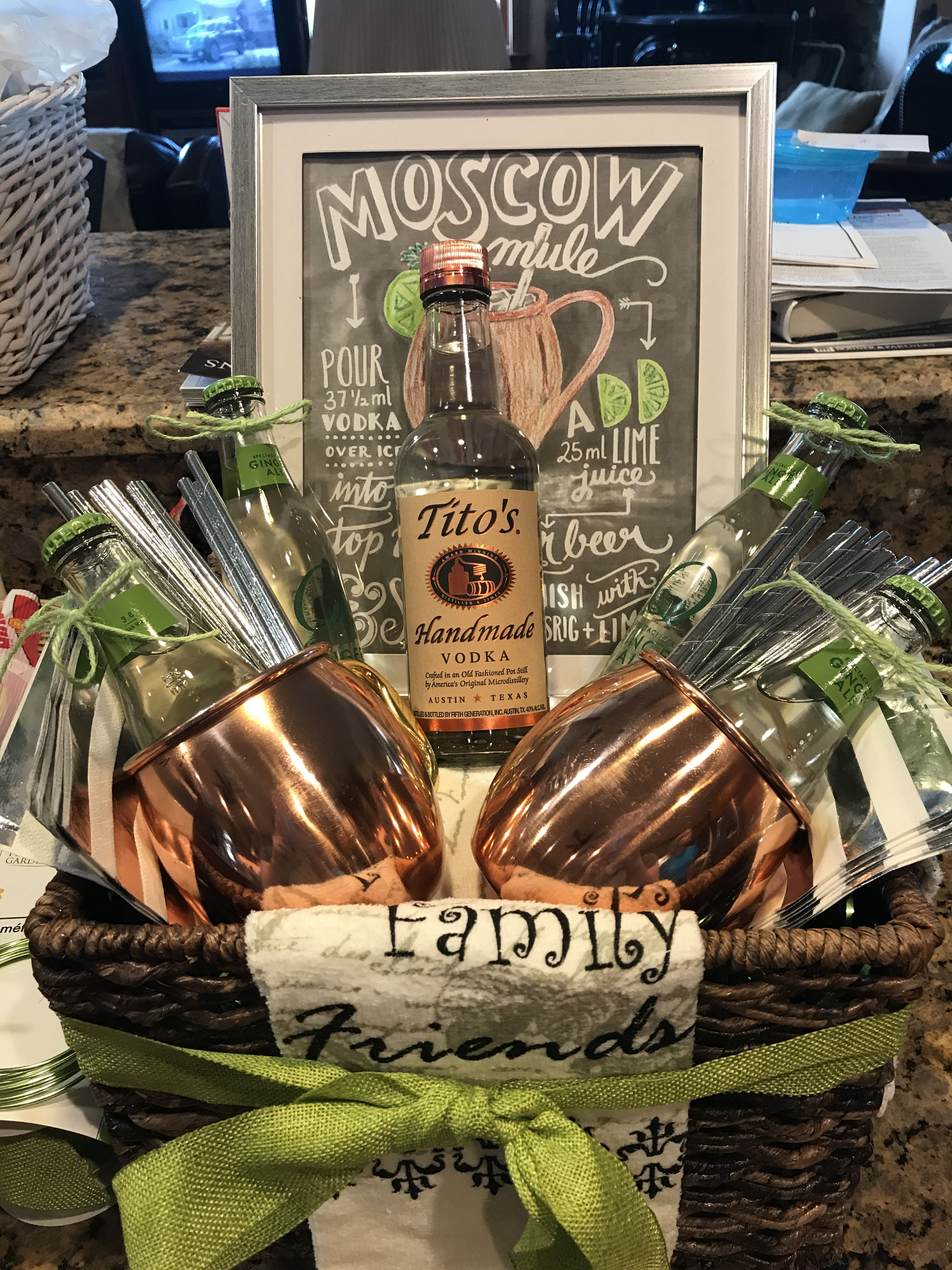 Moscow Mule Gift Basket #bridalshower #chineseauction #moscowmule ...