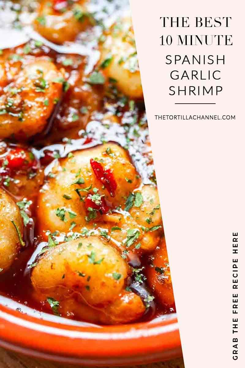 Spanish Garlic Shrimp Gambas Al Ajillo The Tortilla Channel Recipe In 2020 Tapas Recipes Garlic Shrimp How To Cook Shrimp