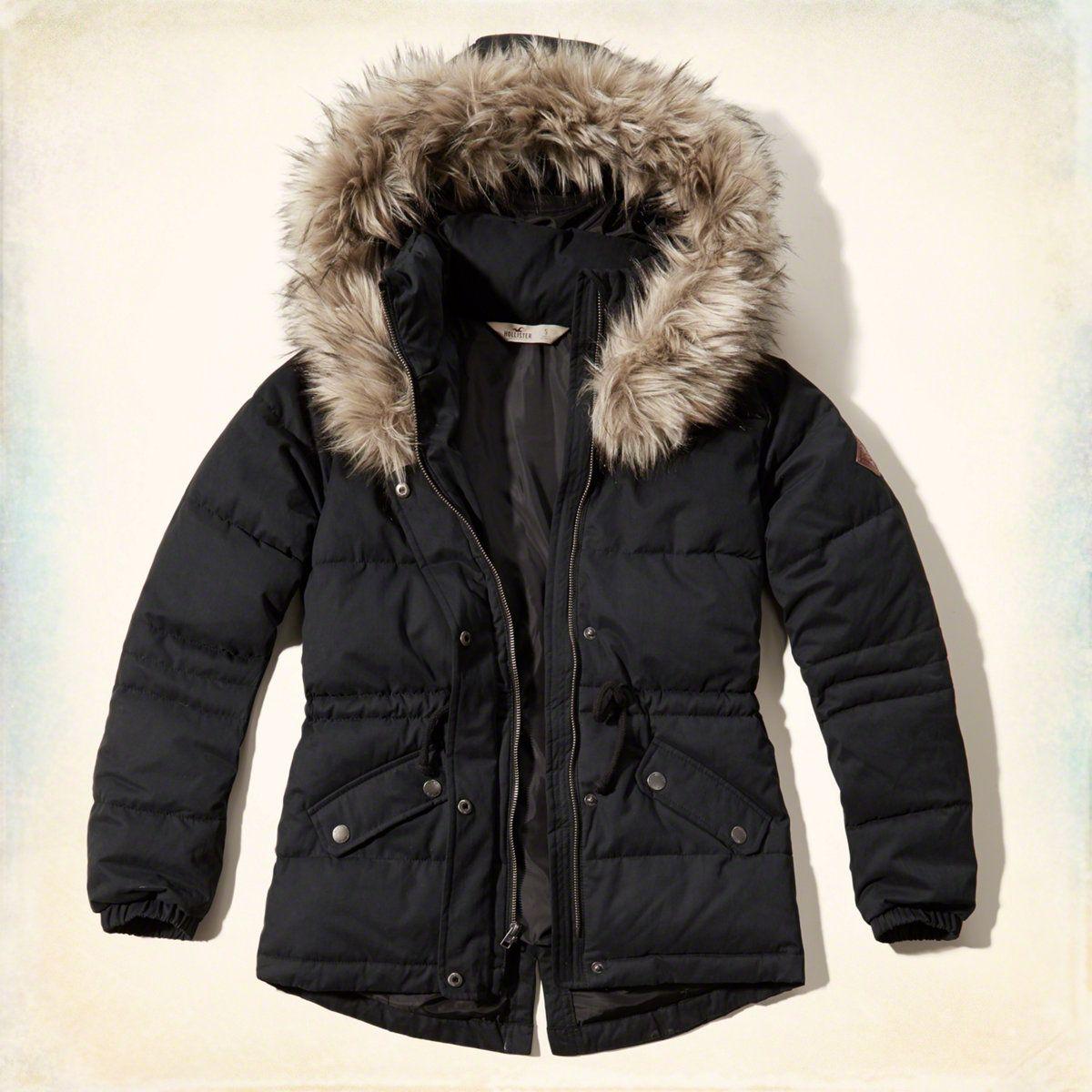 Girls Hollister Elevated Puffer Jacket | Girls Jackets & Outerwear ...