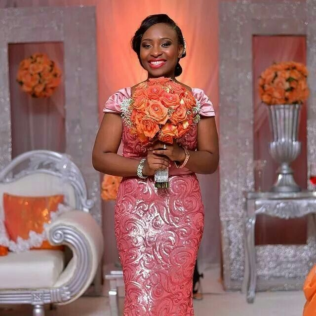 Nigerian Brides Reception Dress