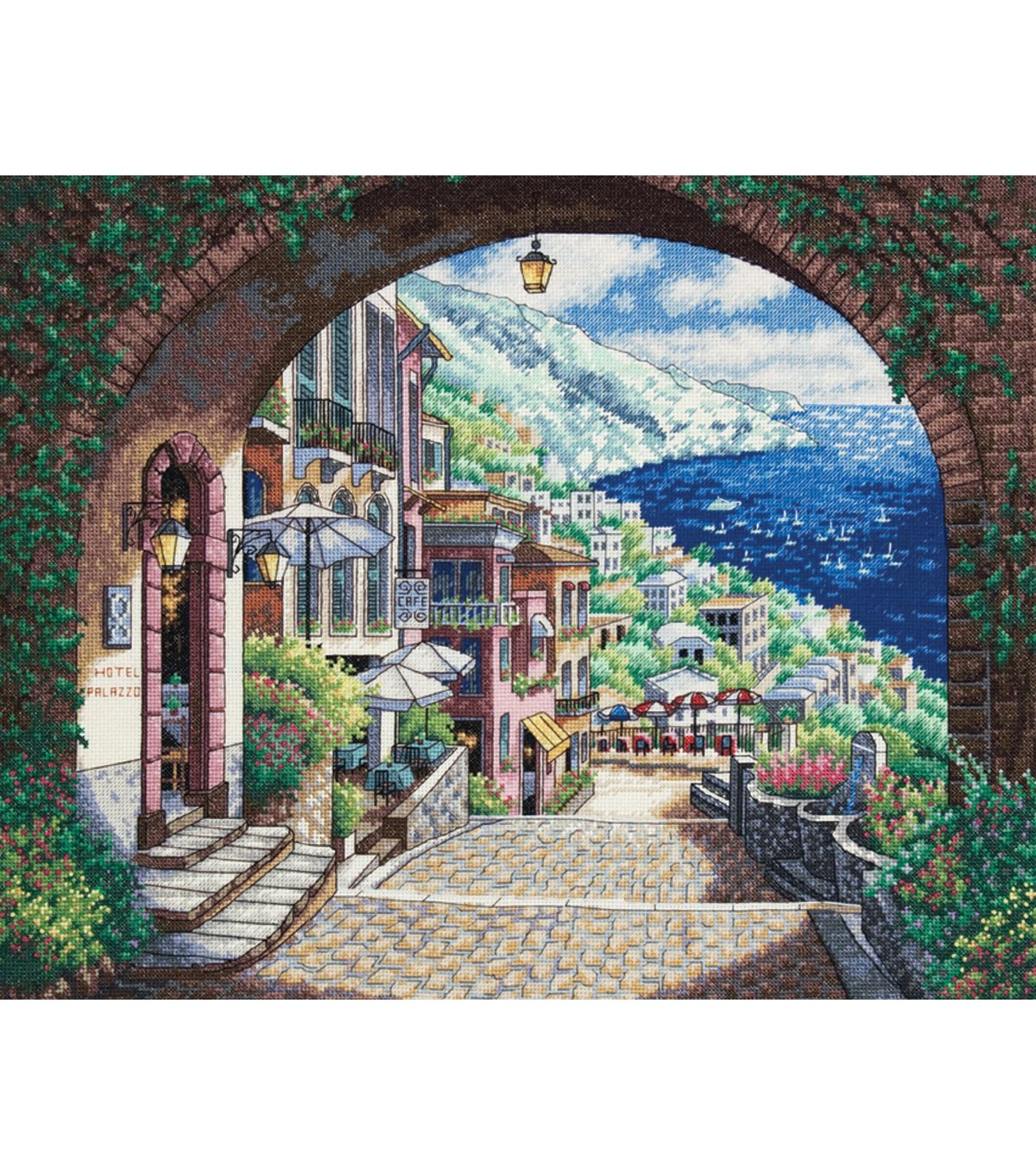 Dimensions Gold Collection Coastal View Counted Cross Stitch Kit ...