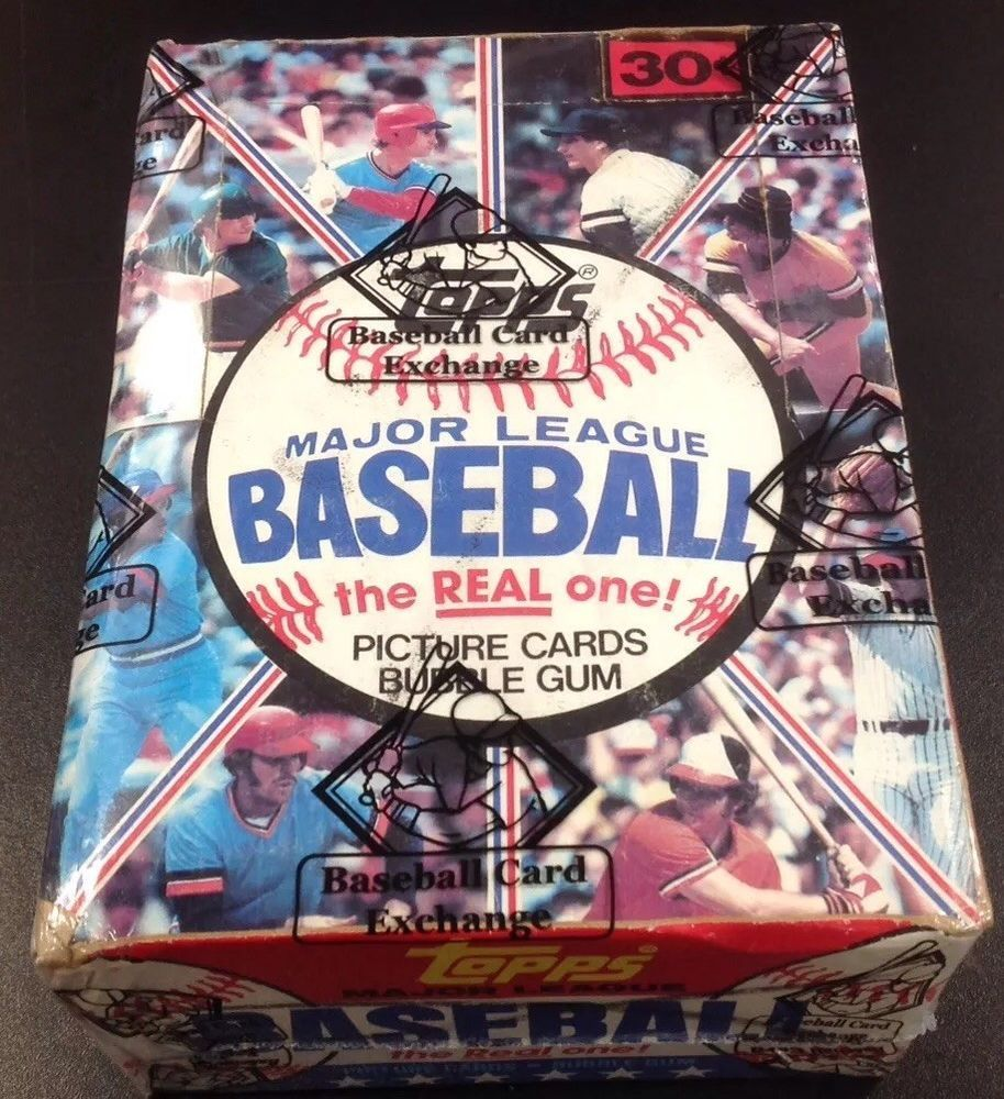 1981 topps baseball unopened wax box bbce wrapped