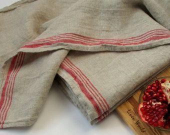 Flax / LINEN Dish Towel. Softened Prewashed Pure Linen Tea Towel / Kitchen  Towel /