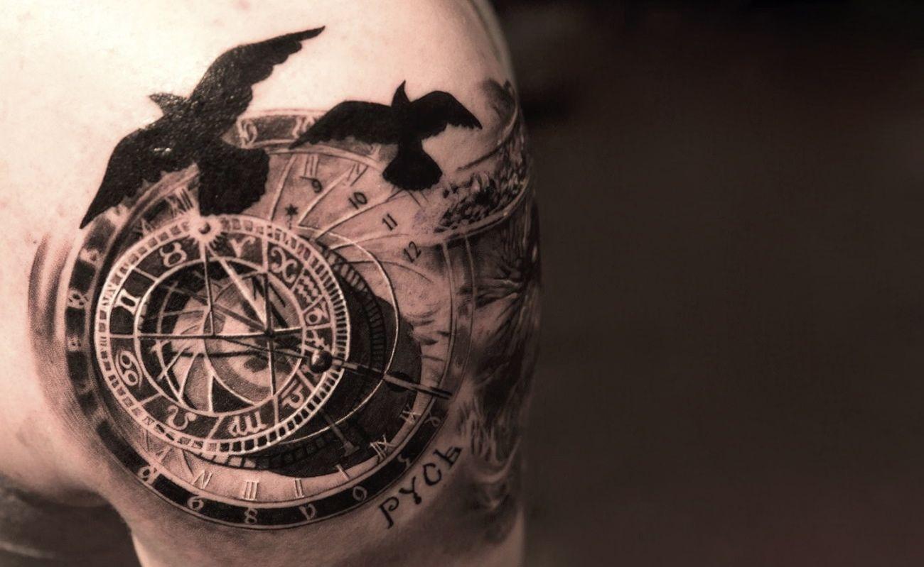 6 Mind Bending 3d Tattooers Watch Tattoos Compass Tattoo