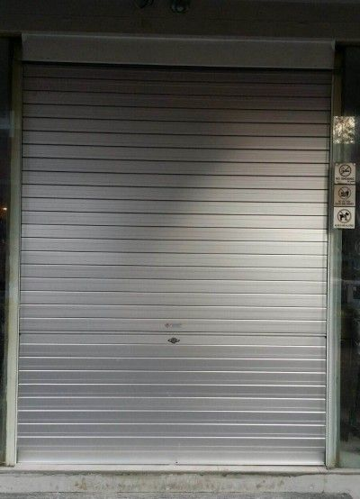 Shopping Centre Food Court Glass Door Replaced With Roller Shutters Roller Shutters Glass Door Shutters