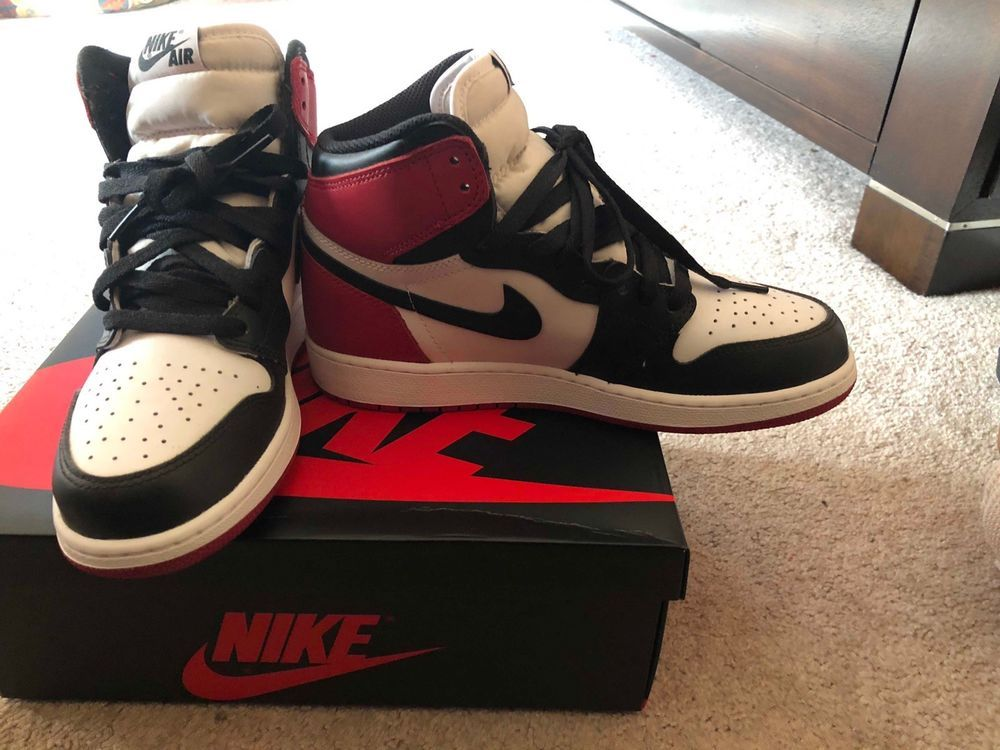 096c698754b2 Nike Air Jordan 1 Retro High OG BRED TOE White Red Black Size 6.5  fashion   clothing  shoes  accessories  mensshoes  athleticshoes (ebay link)
